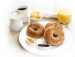 Bagels and juice