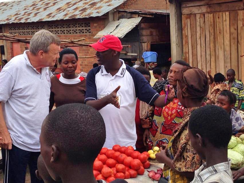 Rev. Fulgence Ndagijamana in the Bujumbura Market, November 2012.