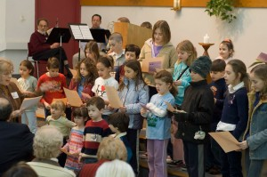 Sunday School at UUFH includes time in Worship Service